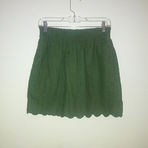 J by j crew scalloped sidewalk Womens skirt size 2